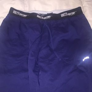 greys anatomy scrub pants navy